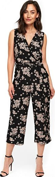 Black Daisy Coulotte Jumpsuit