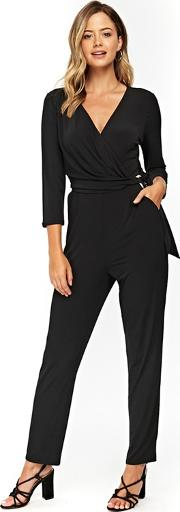 Black Ring Detail Jumpsuit