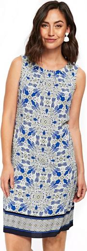 Blue Colourpop Paisley Pinafore Dress