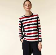 Navy And Red Nautical Stripe Jumper
