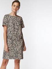 Petite Animal Shift Dress
