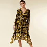 Petite Black Printed Midi Shirt Dress