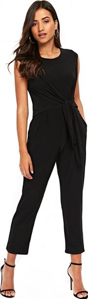 Petite Black Tie Side Jumpsuit