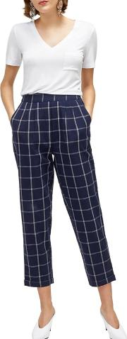 Linen Check Trousers