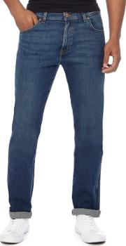 Wrangler Big And Tall Blue Mid Wash texas Straight Fit Jeans