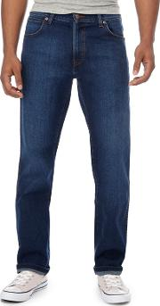 Wrangler Blue Mid Wash texas Water Resistant Straight Fit Jeans