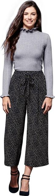 Dash Patterned Cropped Trousers