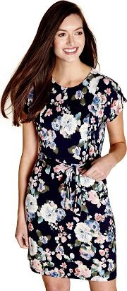 Navy Blooming Floral ronnie Shift Dress