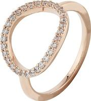 Accessorize Pink Pave Oval Ring