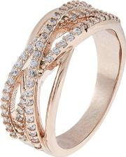 Accessorize Pink Super Criss Cross Ring