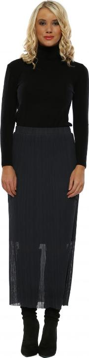 Charcoal Colette Pleated Skirt