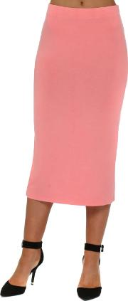 Coraline Jersey Column Pencil Skirt