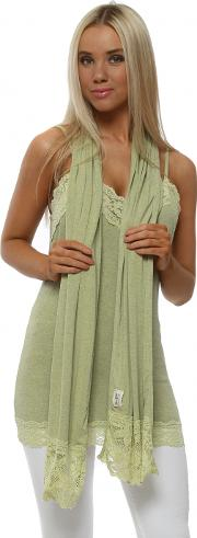 Ella Golden Lime Enchanted Lace Scarf
