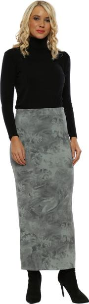 Faith Winter Sea Frosted Flowers Jersey Skirt