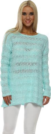 Lulu Paradise Blue Fluffy Long Sleeve Jumper