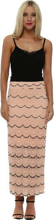Macy Seduction Medallion Lace Pencil Skirt