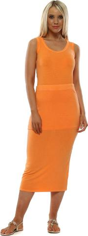 Milli Melba Jersey Column Pencil Skirt