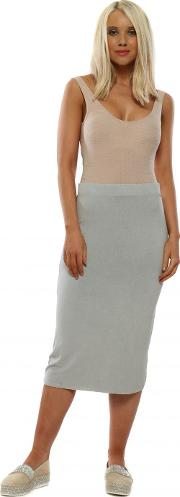 Milli Whisper Jersey Column Pencil Skirt