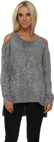 Mouse Sara Selfie Leopard Kat Slash Tunic Sweater