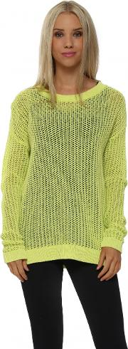 Polly Open Weave Citrus Sweater