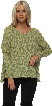 Sara Sexy Skin Slub Knit Top In Golden Lime
