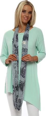 Sea Jade Luxe Luxe Chiffon Snoodie