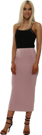 Strawberry Tea Petula Jersey Midi Skirt