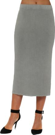Thunder Jersey Column Pencil Skirt