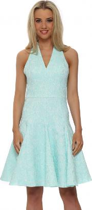 Bray Mint Lace Halter Neck Dress