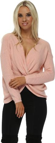 Baby Pink Multiway Wear Knotted Jumper