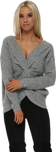 Grey Multiway Wear Knotted Jumper