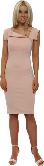 Nude Pink Chic Mad Men Style Dress