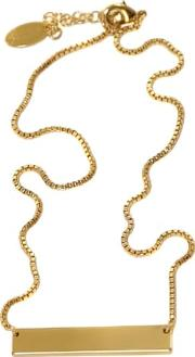 Solid Gold Bar Necklace