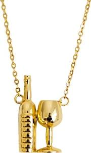 Wine Necklace Gold Bottle Of Wine Glass
