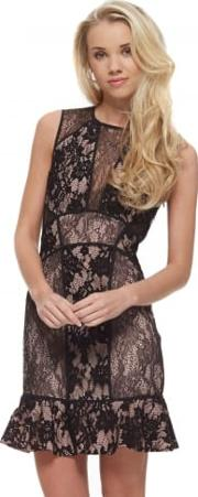 Loaded Dress In Black Lace With Open Back