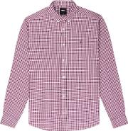 Berry Red Long Sleeve Gingham Shirt