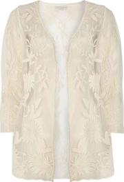 Ivory Embroidered Cardigan
