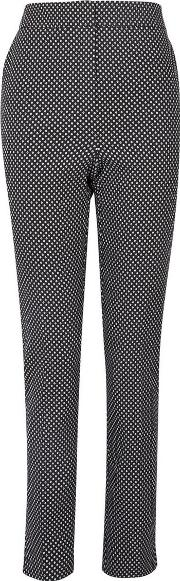 Tall Black Spot Jacquard Troousers