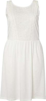 Womens Juno Rose Curve White Lace Dress