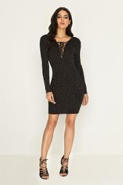 Black Lace Jumper Bodycon Dress