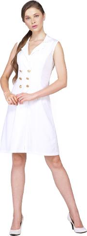 White coat dress