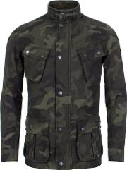 Washed Camo Casual Jacket