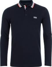Athleisure Plisy Long Sleeve Polo