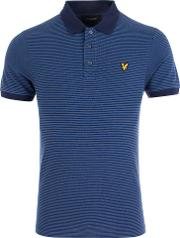 Feeder Stripe Polo Shirt In Blue