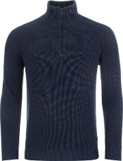 Casual Karby Quarter Zip Neck Knit Sweater