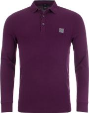Casual Passerby Slim Fit Long Sleeved Polo Shirt