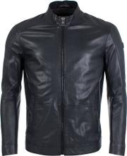 Joker Leather Jacket In Black
