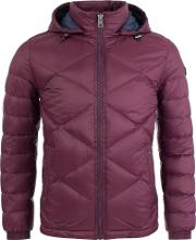Obaron Puffa Jacket In Burgundy