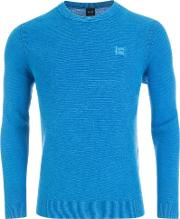 Textured Kalassy Sweater In Blue 431
