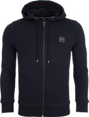 Znacks Full Zip Hooded Jacket In Black